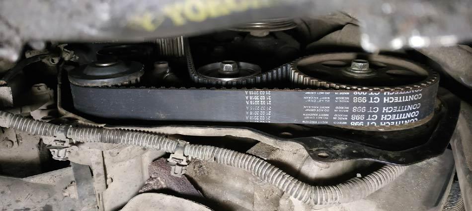 Замена ремня и роликов ГРМ на Тойота Гайя двигатель 3S-FE